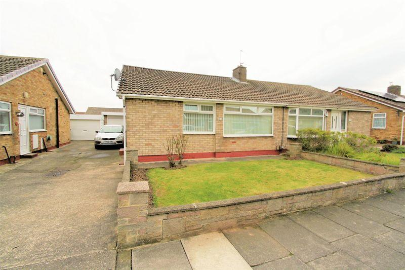2 Bedrooms Semi Detached Bungalow for sale in Elder Grove, Stockton, TS19 0LY