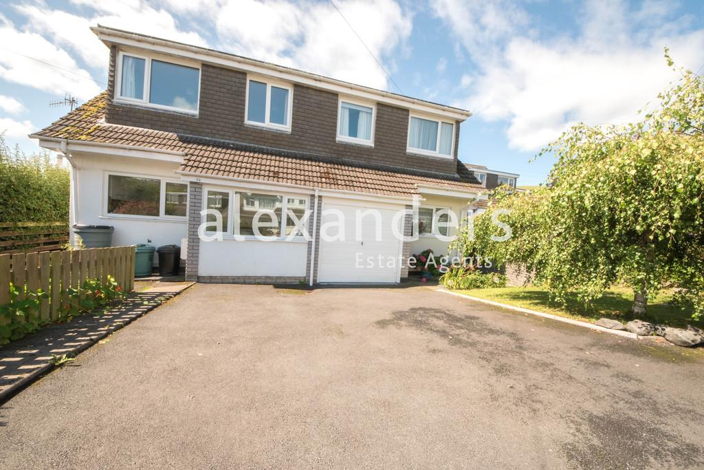 3 Bedrooms Semi Detached House for sale in Bryncastell, Bow Street