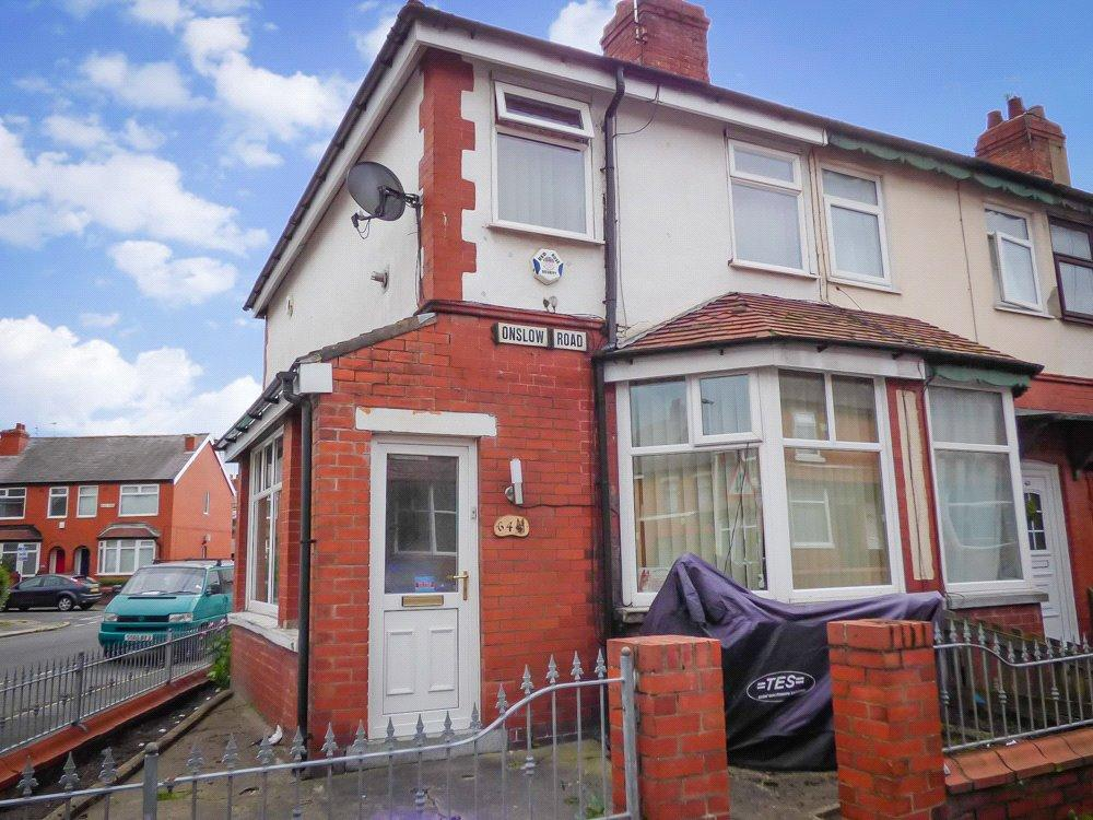 2 Bedrooms End Of Terrace House for sale in Onslow Road, Layton, Blackpool