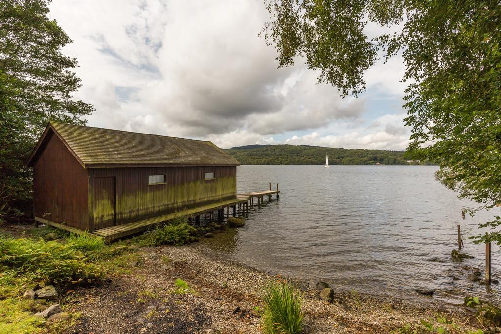 Boathouse, Jetty and Beach