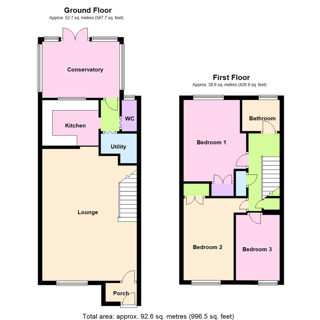 Swanstand Letchworth Garden City 3 Bed Terraced House For - Mather ...