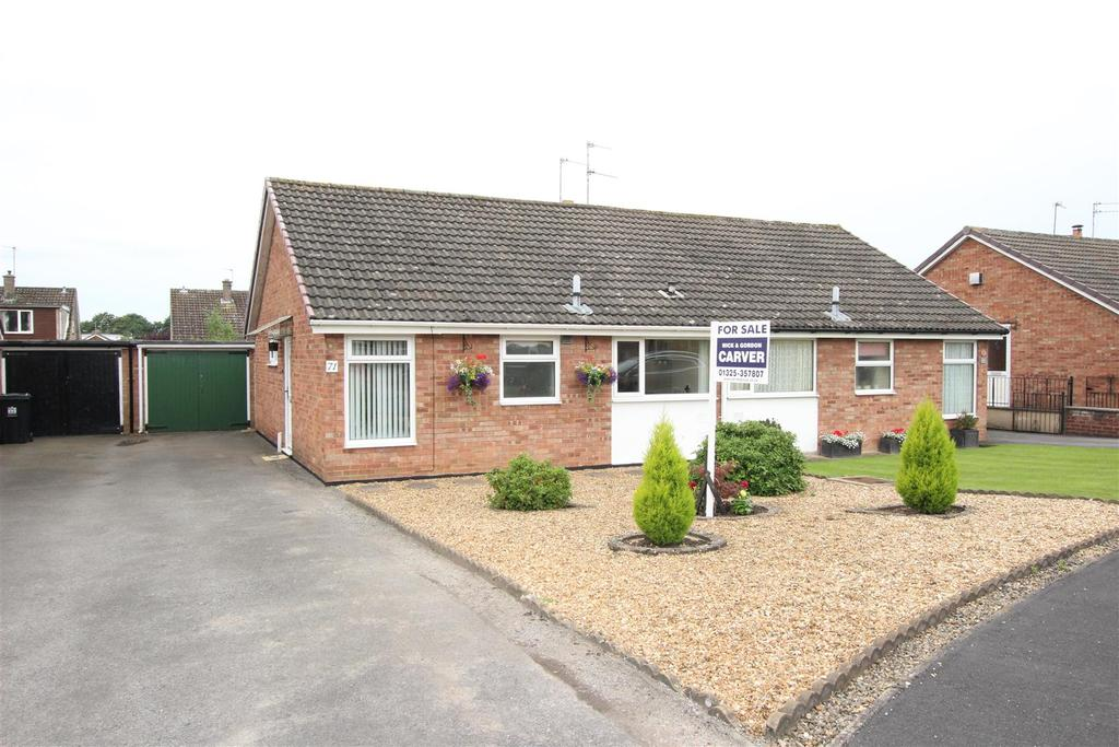 2 Bedrooms Semi Detached Bungalow for sale in Woodlands Way, Hurworth Place, Darlington