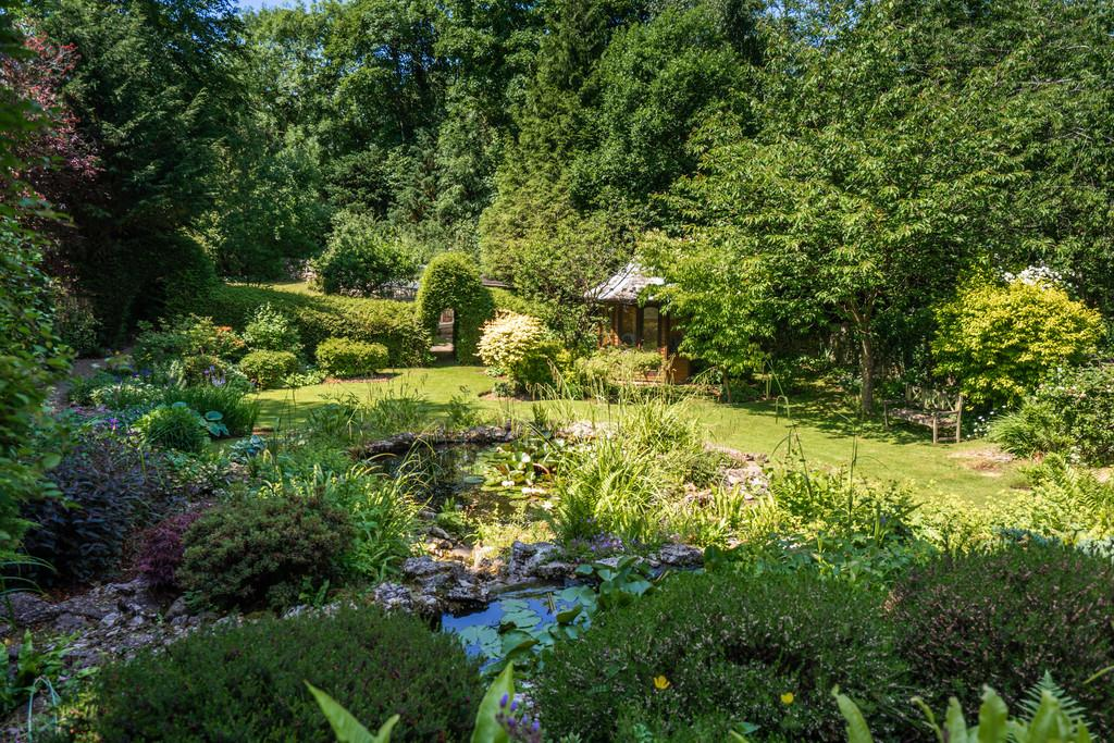 Pond and Summerhouse