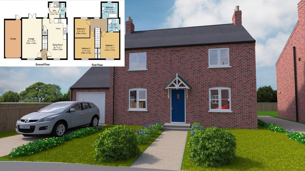 3 Bedrooms Detached House for sale in Plot 3, Grimwood Close, Holbeach, PE12