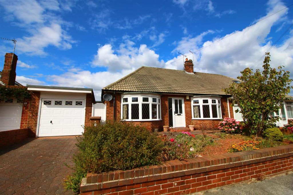 3 Bedrooms Semi Detached Bungalow for sale in Aldenham Gardens, Tynemouth