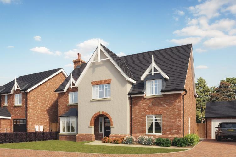 5 Bedrooms Detached House for sale in Plot 16 The Stableford, Church View, Hadnall SY4 3BF