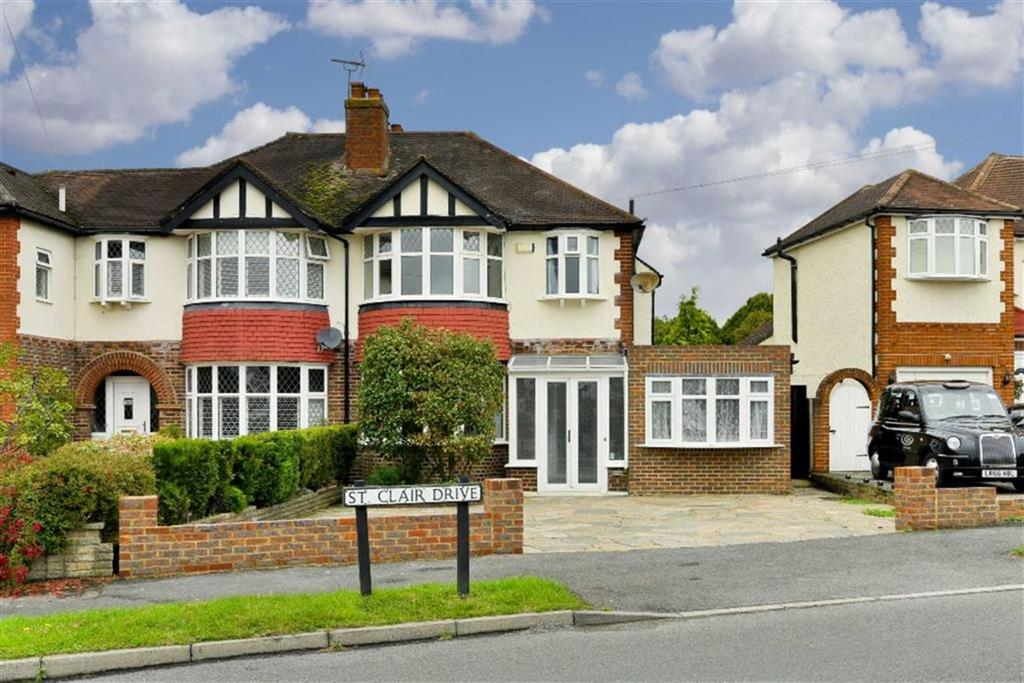 3 Bedrooms Semi Detached House for sale in St Clair Drive, Worcester Park, Surrey