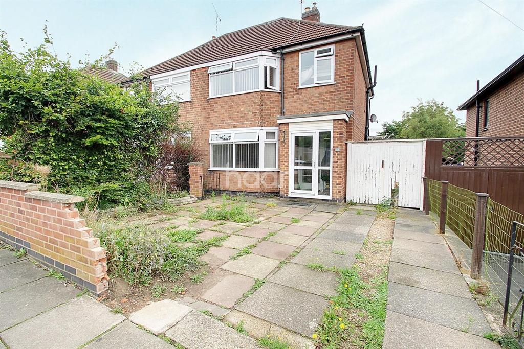 3 Bedrooms Semi Detached House for sale in Chestnut Avenue, Netherhall, Leicester