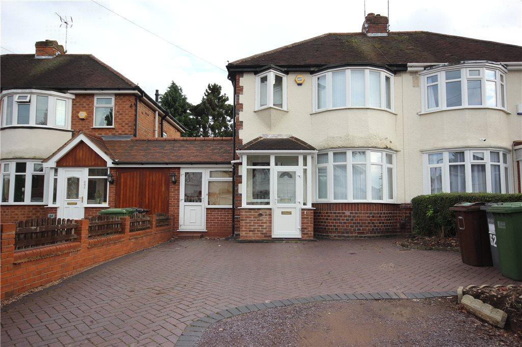 3 Bedrooms Semi Detached House for sale in Valley Road, Solihull, West Midlands, B92