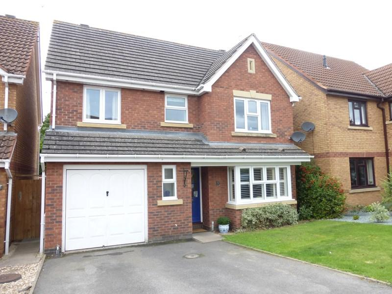 4 Bedrooms Detached House for sale in Burma Close, Evesham
