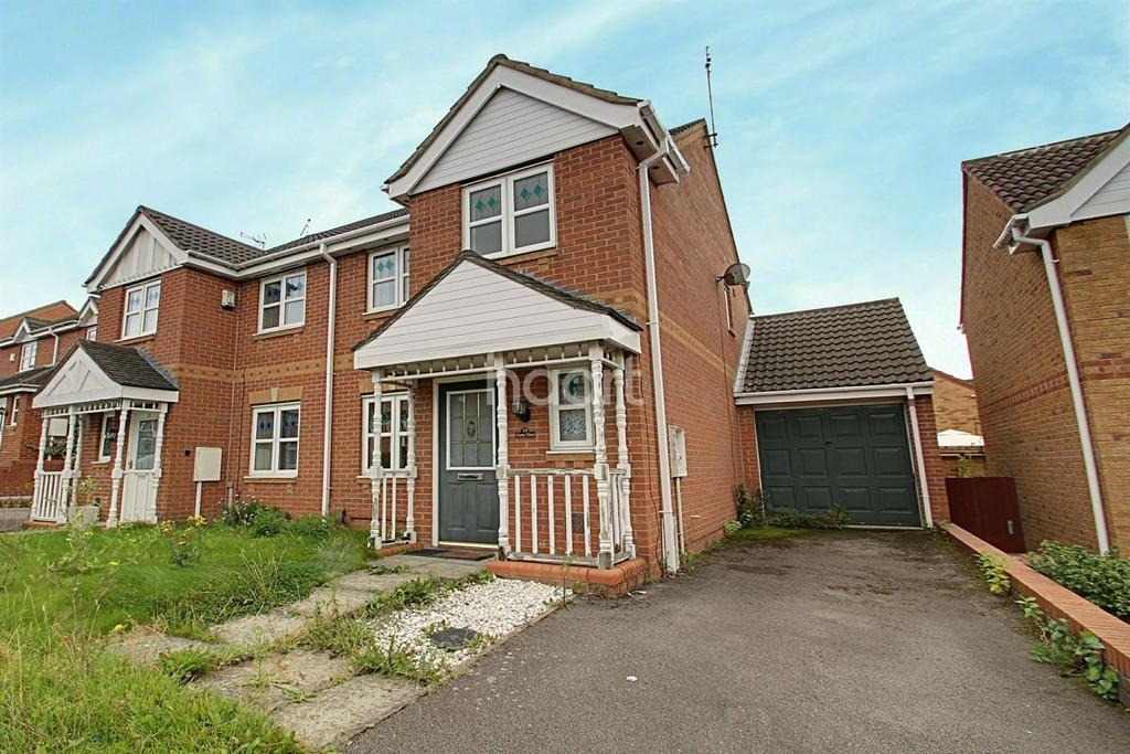 3 Bedrooms Semi Detached House for sale in Impey Close, Thorpe Astley, Leicester