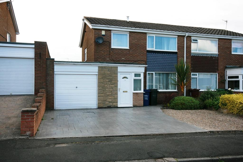 3 Bedrooms Semi Detached House for sale in Kenmoor Way, Chapel Park, Newcastle upon Tyne, NE5