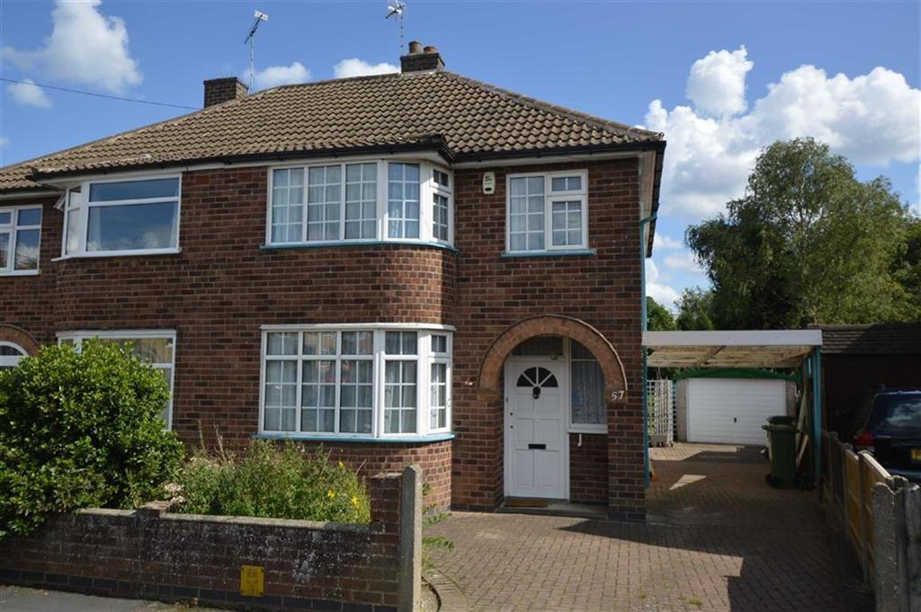 3 Bedrooms Semi Detached House for sale in Oakcroft Avenue, Kirby Muxloe
