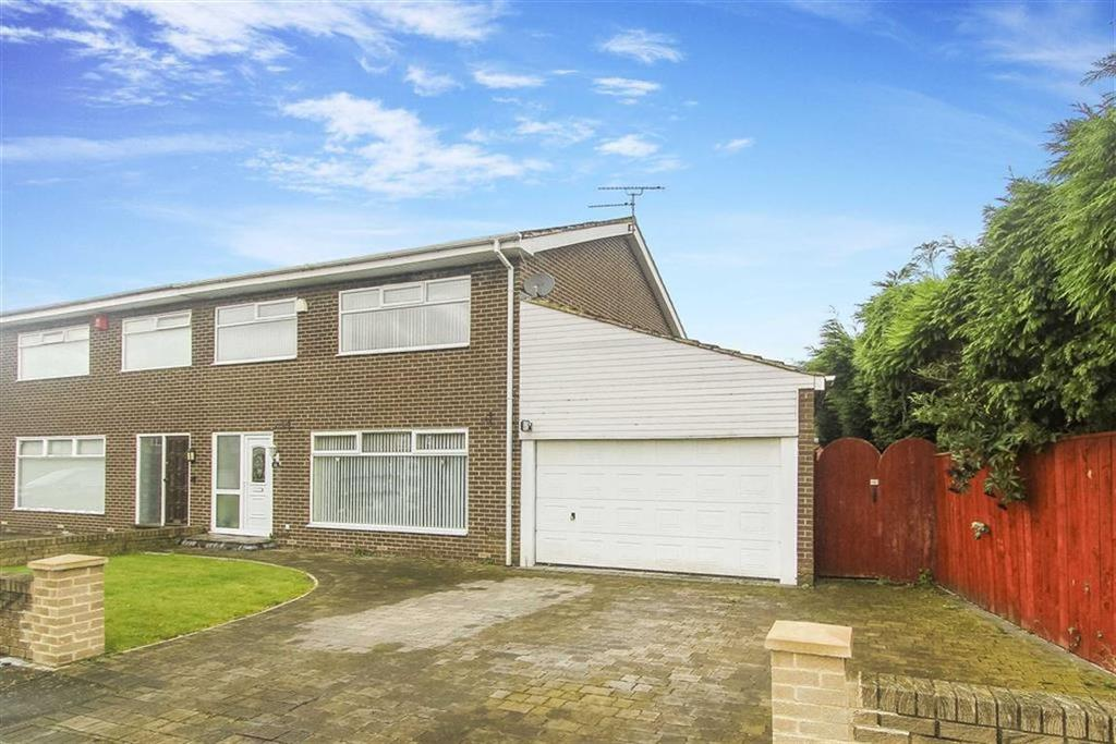 3 Bedrooms Semi Detached House for sale in Moor Close, North Shields, Tyne And Wear