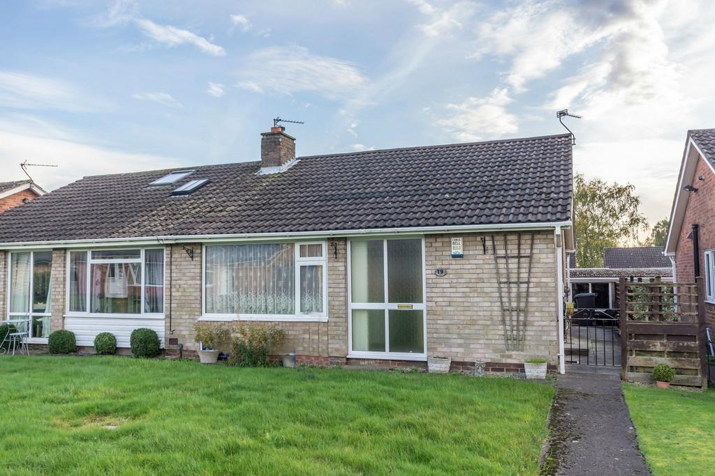 2 Bedrooms Semi Detached Bungalow for sale in Stones Close, Holgate, YORK