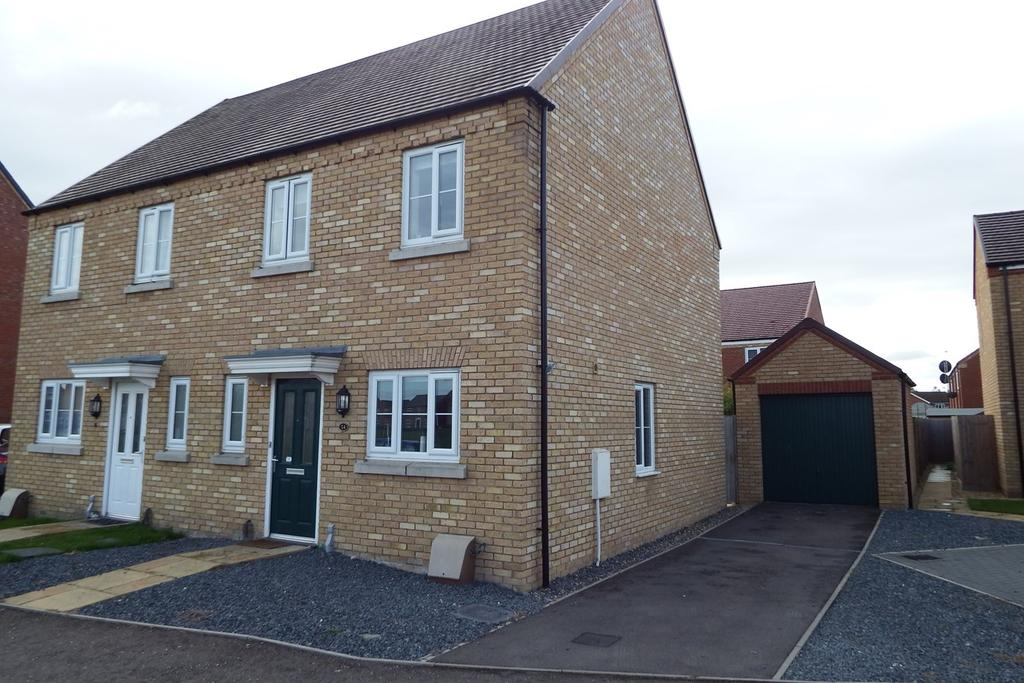 3 Bedrooms Semi Detached House for sale in Derwent Way, Spalding, PE11