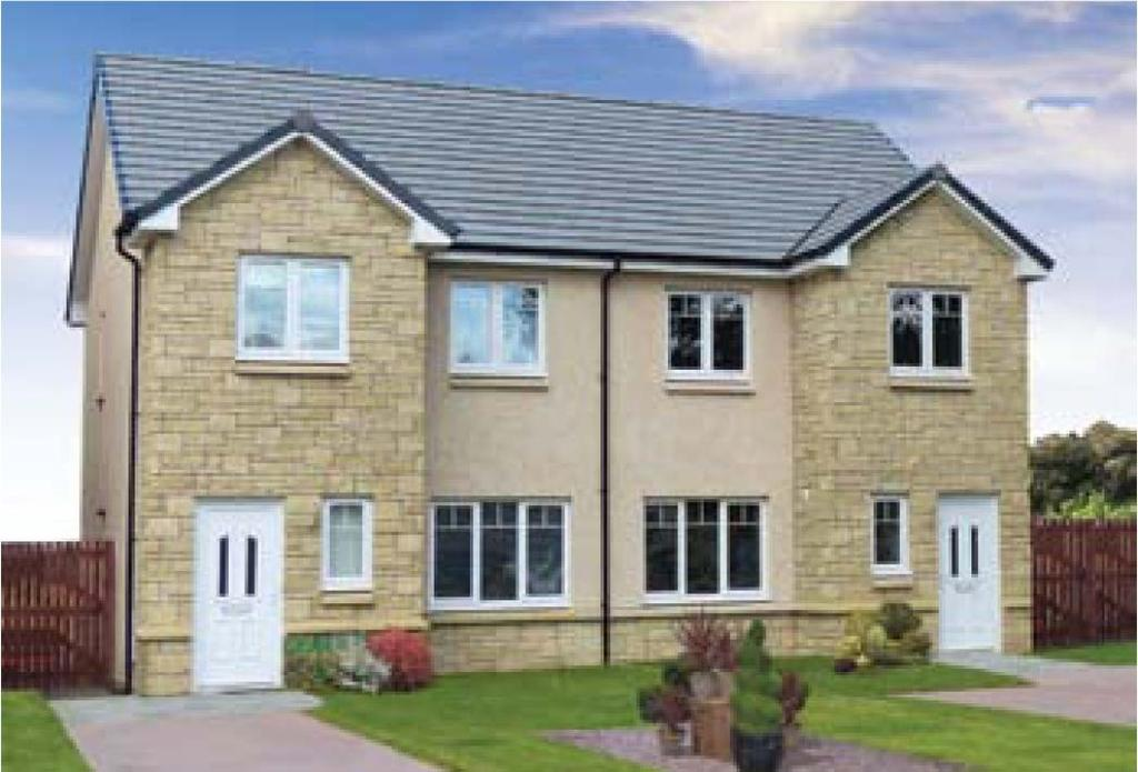 3 Bedrooms Semi Detached House for sale in Plot 53 Arrochar, Oaktree Gardens, Alloa Park, Alloa, Stirling, FK10 1QY