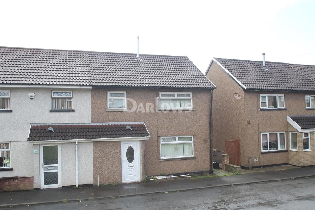 3 Bedrooms Semi Detached House for sale in Twyngarreg Treharris