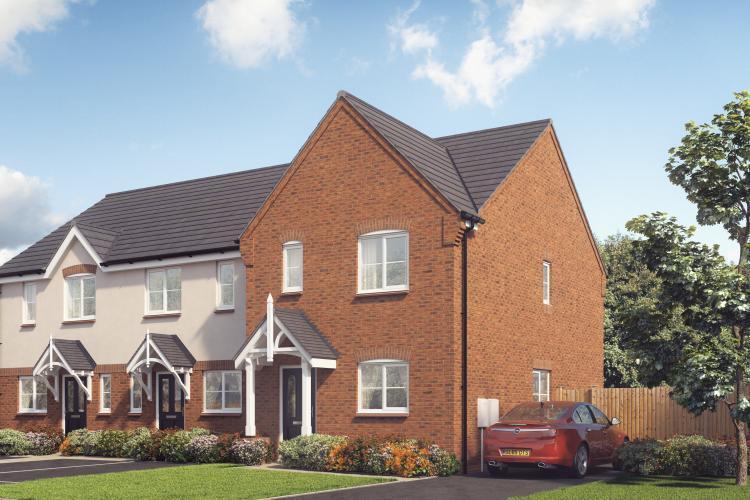 3 Bedrooms Semi Detached House for sale in Plot 18 The Appleton, Saxon Grove, Sundorne, Shrewsbury, SY1 3RG