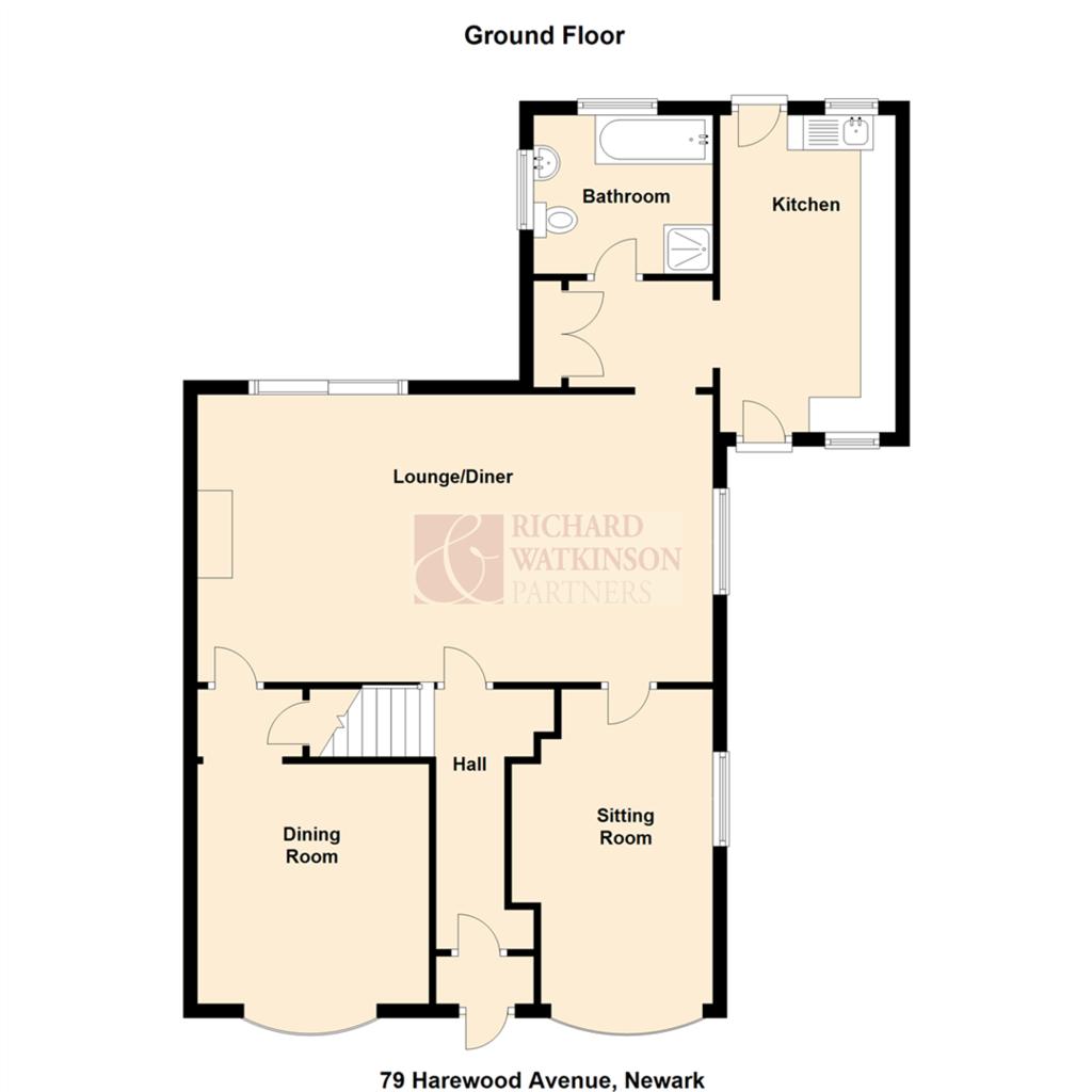 Harewood Avenue Newark 4 bed semidetached house 239950 – Harewood House Floor Plan