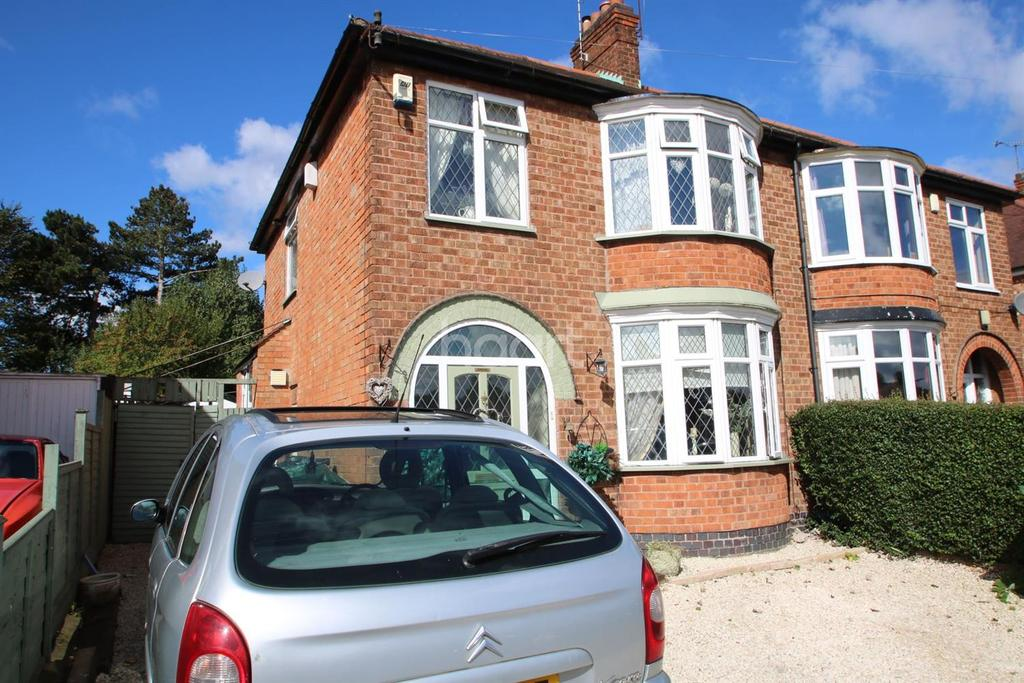 3 Bedrooms Semi Detached House for sale in Glenborne Road, Wigston, Leicester, Leicestershire