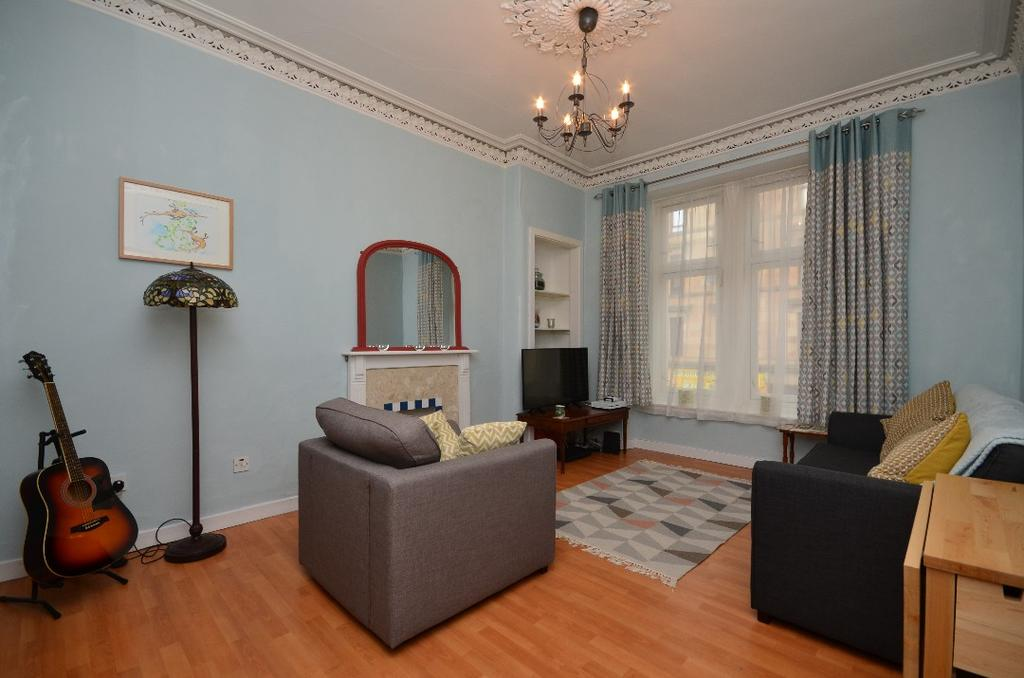 2 Bedrooms Flat for sale in Old Dumbarton Road, Flat 1/1, Yorkhill, Glasgow, G3 8RF