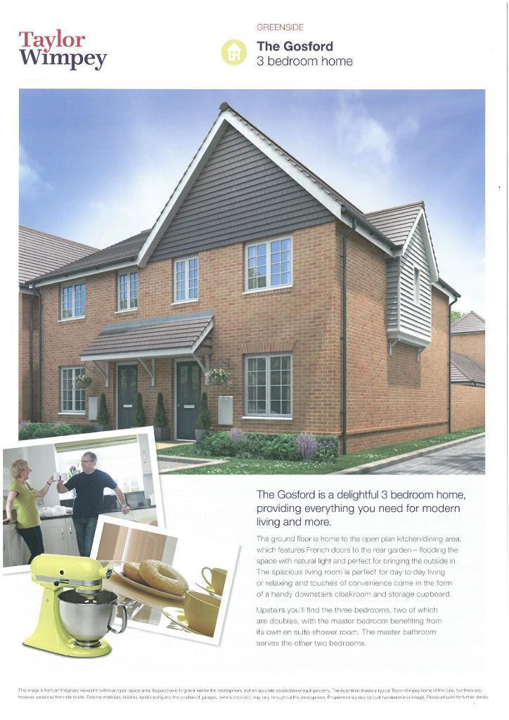 3 Bedrooms Semi Detached House for sale in Plot 16 Greenside, Littlehampton Road, Ferring, West Sussex, BN12 6PN