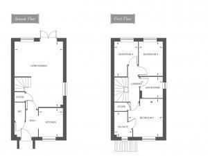 3 Bedrooms Semi Detached House for sale in Plot 16, The Carrington, Saxon Grove, Sundorne, Shrewsbury, SY1 3RG
