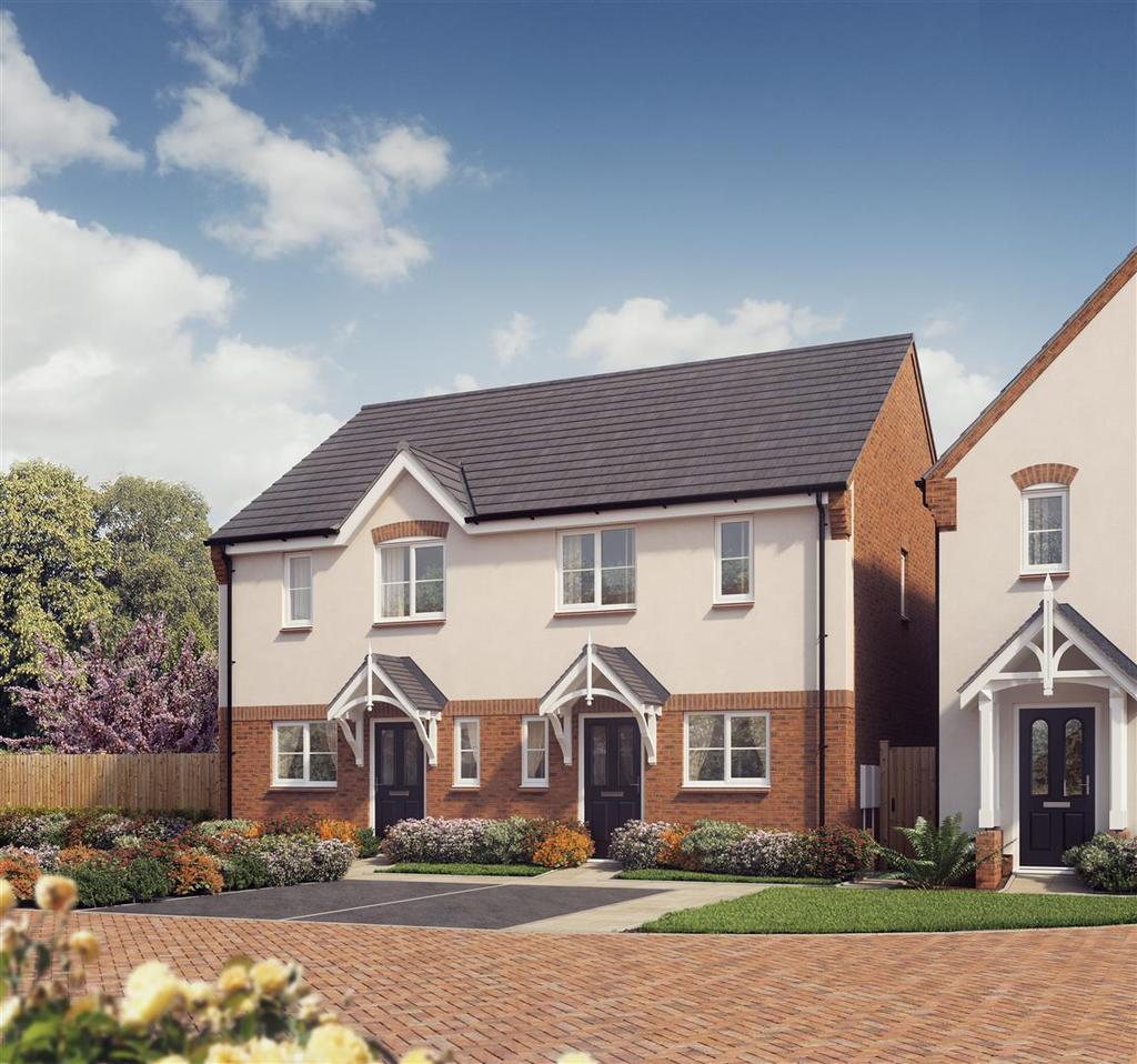 3 Bedrooms Semi Detached House for sale in Plot 19, The Carrington, Saxon Grove, Sundorne, Shrewsbury, SY1 3RG