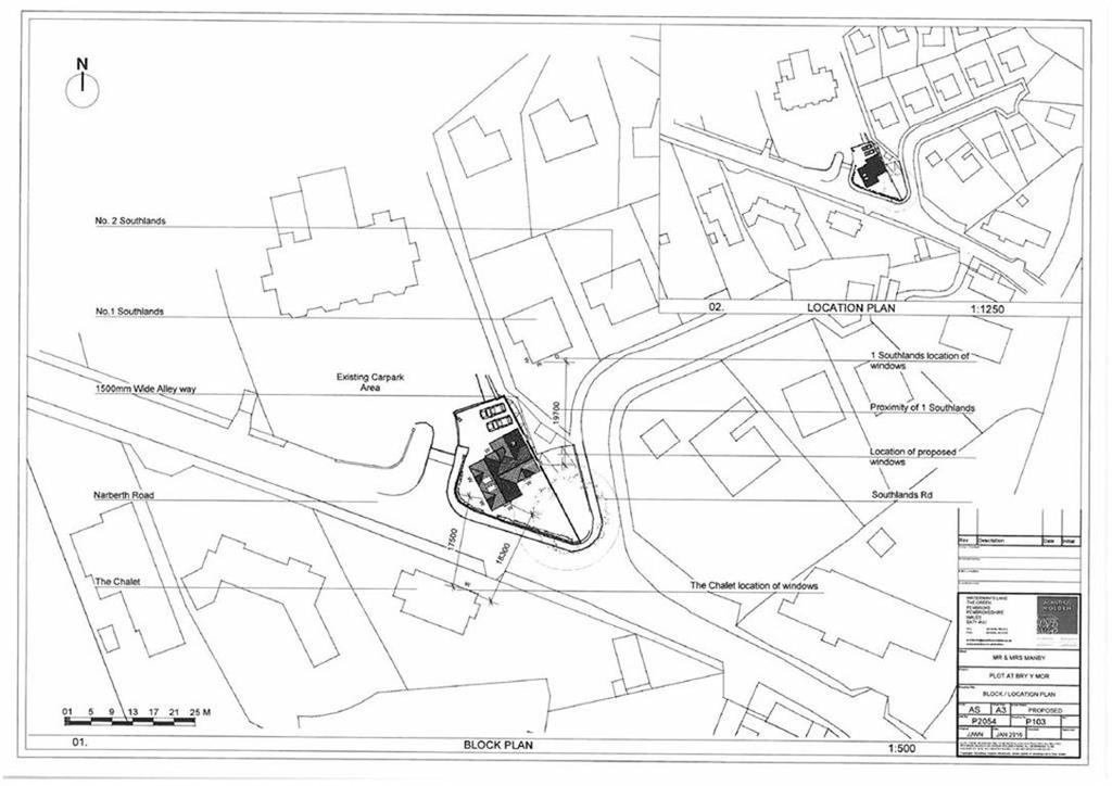 Land Commercial for sale in Building Plot Bryn Y Mor, Narberth Road, Tenby, SA70