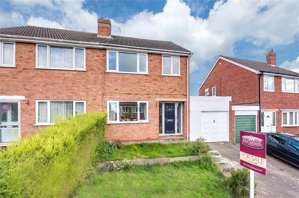 3 Bedrooms Semi Detached House for sale in Hollywood Drive, Highley, Bridgnorth, Shropshire