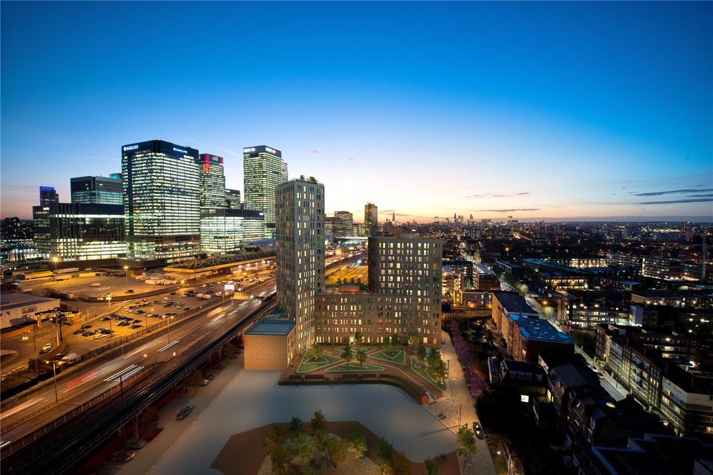 2 Bedrooms Flat for sale in Manhattan Plaza, Prestons Road, London, E14