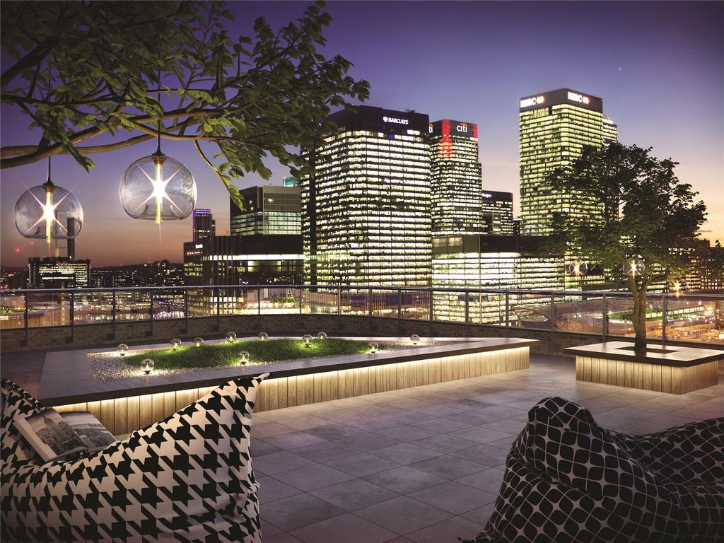3 Bedrooms Flat for sale in Manhattan Plaza, Prestons Road, London, E14