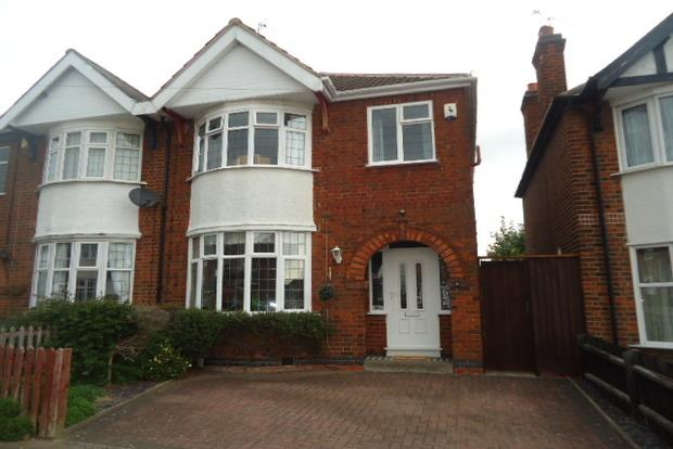 3 Bedrooms Semi Detached House for sale in Ashdown Avenue, Western Park, Leicester, LE3
