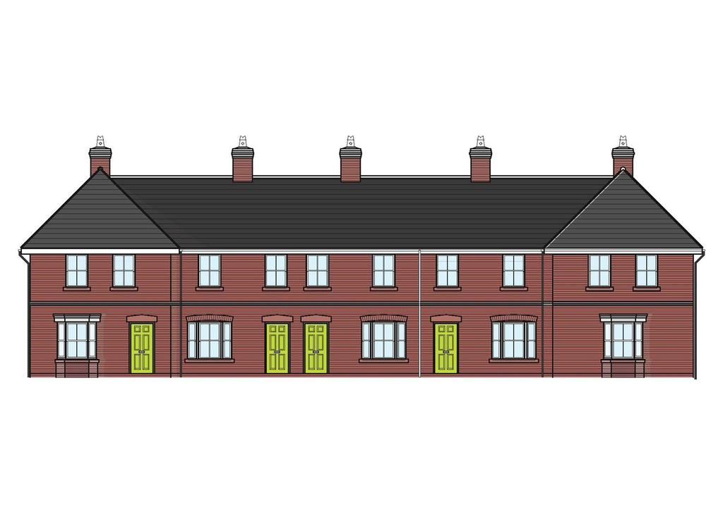 Plot 1 mill court mill street wem shrewsbury 3 bed end for Terrace house 1