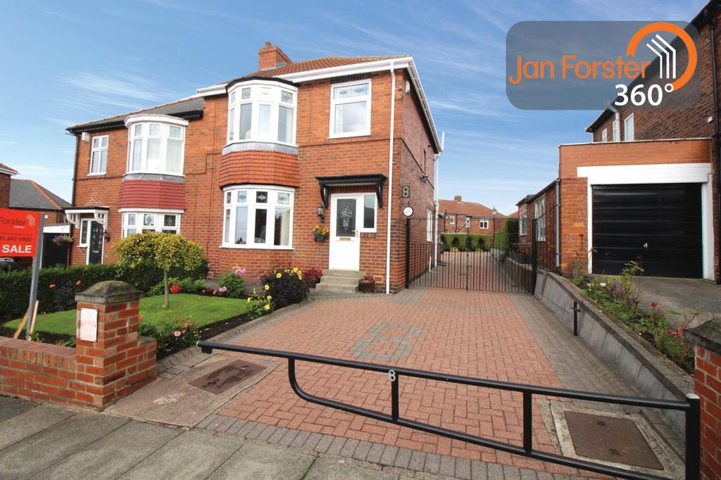 3 Bedrooms Semi Detached House for sale in Coniston Gardens, Gateshead