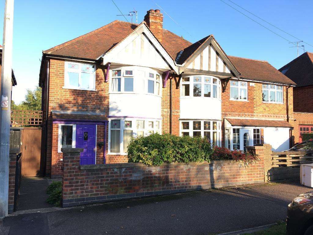 3 Bedrooms Semi Detached House for sale in Wyngate Drive, Western Park, Leicester, Leicestershire, LE3 0US