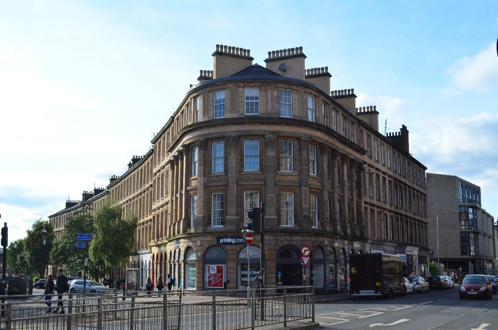 2 Bedrooms Flat for sale in Argyle St, Flat 2/1, Finnieston, Glasgow, G3 8LZ