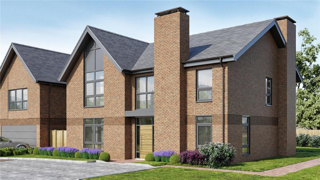 5 Bedrooms Detached House for sale in Tedbury At Upper Longcross, Chobham Lane, KT16