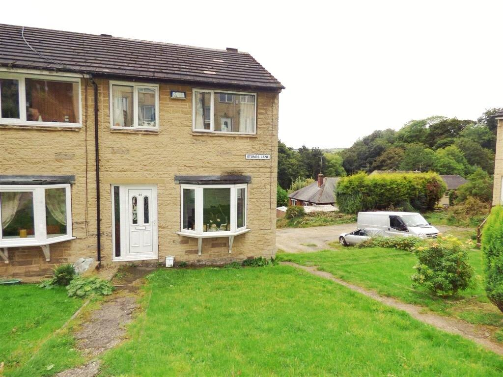 3 Bedrooms End Of Terrace House for sale in Stones Lane, Golcar, Huddersfield, HD7