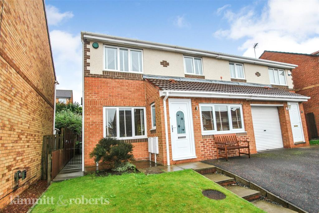 3 Bedrooms Semi Detached House for sale in Tiverton Close, The Crofters, Newbottle, DH4