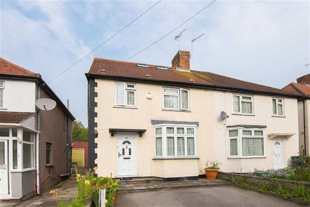 4 Bedrooms Semi Detached House for sale in Halsbury Road East, Northolt, Middlesex