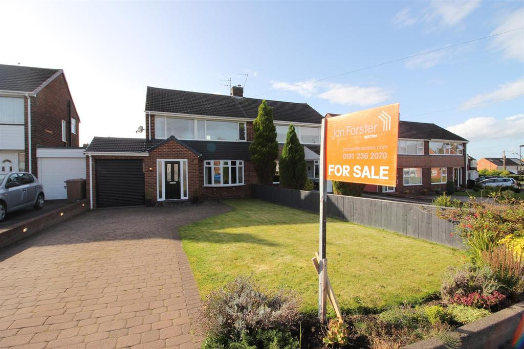 3 Bedrooms Semi Detached House for sale in Rayleigh Drive, Wideopen, Newcastle Upon Tyne