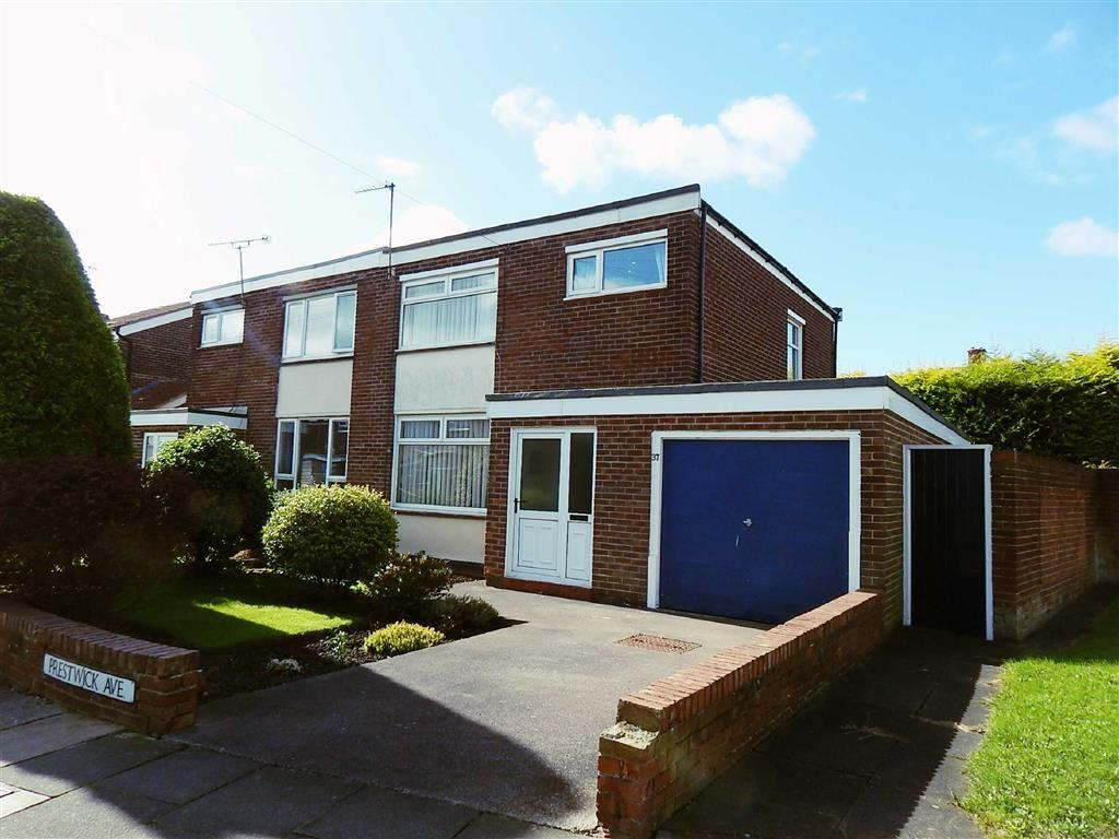 3 Bedrooms Semi Detached House for sale in Prestwick Avenue, North Shields, Tyne And Wear, NE29