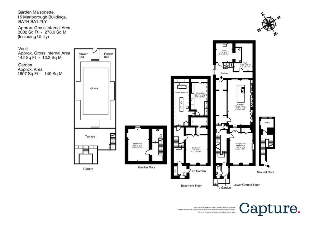 Marlborough Buildings Bath BA1 2 bed maisonette 1400000 – Marlborough House Floor Plan