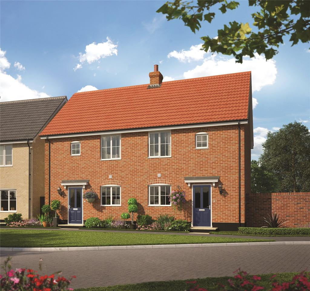 3 Bedrooms Semi Detached House for sale in Plot 29, The Willow, The Pines, Ashe Road, Tunstall, Woodbridge, IP12