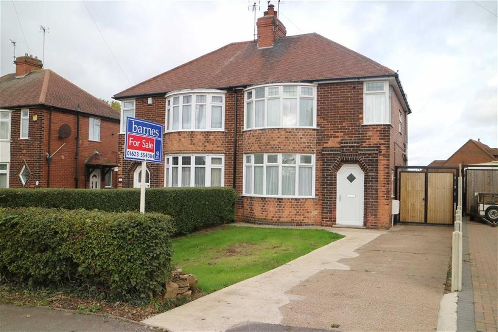 3 Bedrooms Semi Detached House for sale in Mansfield Road, Skegby, Notts, NG17