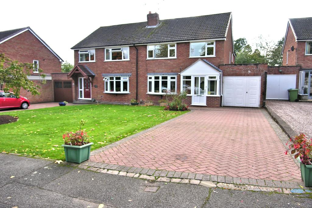 3 Bedrooms Semi Detached House for sale in BARN BANK LANE, MOSS PIT, STAFFORD ST17
