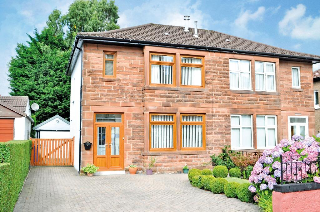 3 Bedrooms Semi Detached House for sale in Speirs Road, Bearsden, East Dunbartonshire , G61 2LX