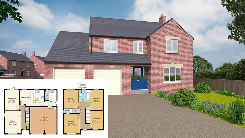 4 Bedrooms Detached House for sale in Plot 1, Grimwood Close, Holbeach, PE12